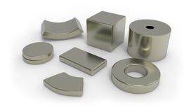Neodymium magnets Stock Image