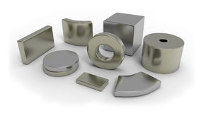 Neodymium magnets Stock Photography