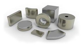 Neodymium magnets Stock Photography