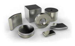 Neodymium magnets Royalty Free Stock Photos