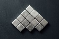 Neodymium magnets squares Royalty Free Stock Images