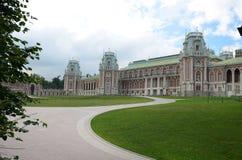 Neogothic砖瓦房 Tsaritsyno公园 免版税库存照片