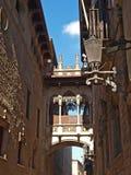 Neogothic bro i Barcelona Arkivbilder