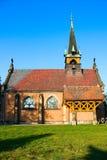 Neogothic catholic church on blue sky Royalty Free Stock Image