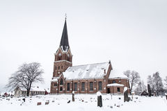 Neogothic chuch, Lillehammer Stock Images