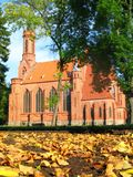 Neogothic church in autumn Royalty Free Stock Photography