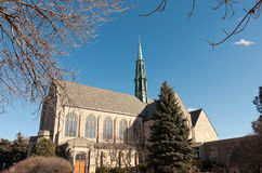 Neogothic Church and Courtyard in Saint Paul Minnesota Stock Photos