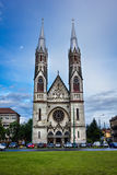 Neogothic holly place in Timisoara Stock Photo