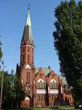 Neogothic Kirche am Sommer Fotos de archivo libres de regalías