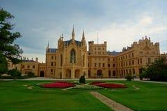 Neogothic Palast in Lednice, Süd-Moray-Region der Tschechischen Republik gelegen in Europa stockfoto