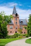 Neogotisch kasteel Cerveny Hradek dichtbij Sedlcany van 1508, Centraal Boheems gebied, Tsjechische republiek Stock Foto