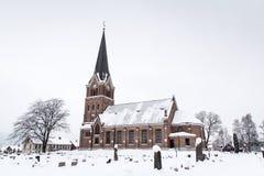Neogotische chuch, Lillehammer stock afbeeldingen
