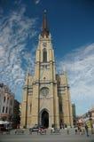 Neogotische kathedraal Stock Afbeeldingen