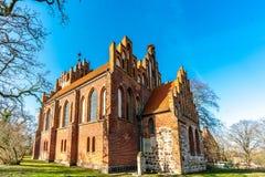 Neogotische kerk in Linum Brandenburg stock afbeelding