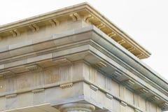 Neoklassieke plafond en kolommen Stock Foto