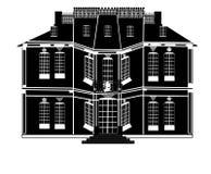 Neoklassisches Herrenhaus lizenzfreie abbildung
