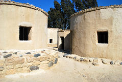 Neolithic age Choirokoitia village. Round houses from  Neolithic age Royalty Free Stock Images