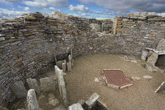 The neolithic Broch of Gurness in Orkney, Scotland. The neolithic Broch of Gurness in Orkney Royalty Free Stock Photography