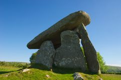 Neolithic burial chamber Royalty Free Stock Photos