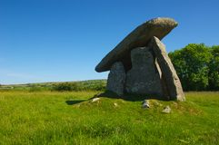 Neolithic burial chamber Stock Photos