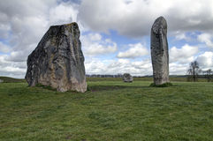 Neolithic henge monument. The Avebury ring is the oldest stone ring that is known to be in existence anywhere in the world. 2500BC Stock Photo