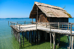 Neolithic Lake Dwellings At The Lake Constance Royalty Free Stock Photo