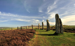 neolithic orkney för brodgar henge cirkel Royaltyfri Bild