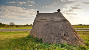 Neolithic prairie settlement Royalty Free Stock Photos