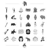 Neolithic, prehistoric, hunting and other web icon in black style. mining, drawing, weapons icons in set collection. Neolithic, prehistoric, hunting and other Stock Photo
