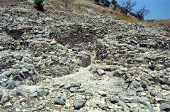 Neolithic ruins, Khirokitia, Cyprus Royalty Free Stock Photo