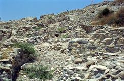 Neolithic ruins, Khirokitia, Cyprus Stock Image