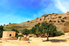 The Neolithic settlement of Choirokoitia in Cyprus. Royalty Free Stock Photos