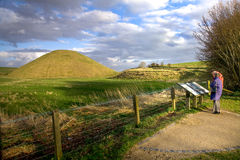 Neolithic site of Silbury Hill, Avebury, Wiltshire, UK Royalty Free Stock Images