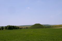 The Neolithic site of Silbury Hill Stock Image