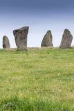 Neolithic Standing Stones at Nine Stones Close, Derbyshire, Engl Royalty Free Stock Image