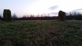 neolithic sten för cirkel Arkivfoto