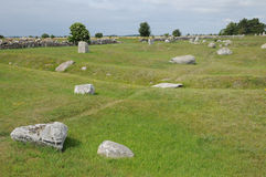Neolithic stones in Seby Stock Photo