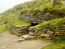 Tomb of the Eagles. Neolithic tomb of the eagles, Main Island, the Orkneys stock photography