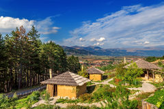 Neolithic village. In bulgaria in beautiful autumn Stock Image