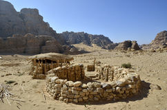 Neolithic village near Little Petra. Stock Photos