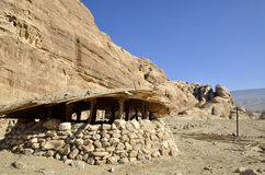 Neolithic village near Little Petra. Royalty Free Stock Photos