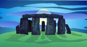 Neolithing ring of standing stones Royalty Free Stock Photography