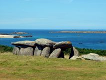 Neolitic dolmen -Brittany, France Stock Images