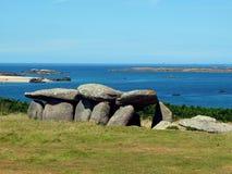 Neolitic dolmen -Brittany, France Stock Images