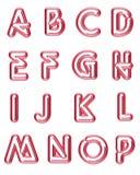 Neon 1 delle lettere maiuscole Fotografia Stock