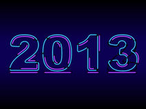 Neon 2012 Changes To 2013. Neon 2013 sign with an unlit 2 in the same space as the lit 3 vector illustration