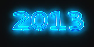 Neon 2013 Stock Photos