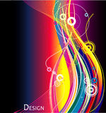 Neon abstract background. Lines neon abstract background illustration Royalty Free Stock Images
