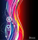 Neon abstract background. Lines neon abstract background illustration Royalty Free Stock Photo