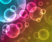 Neon abstract background_2. Abstract on a colorful background digital bokeh effect Stock Photo